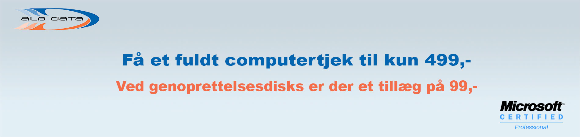 få et fuldt computercheck til 499,-